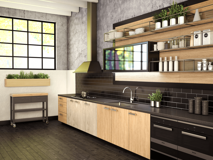 Laminex Industrial Style Kitchen